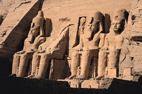 Tempeleingang von Abu Simbel